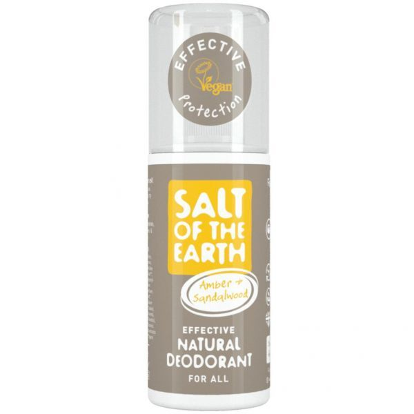 Salt Of The Earth Prírodné dezodorant v spreji s ambrou a santalom ( Natura l Deodorant) 100 ml