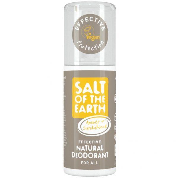 Salt Of The Earth Přírodní deodorant ve spreji s ambrou a santalem (Natural Deodorant) 100 ml