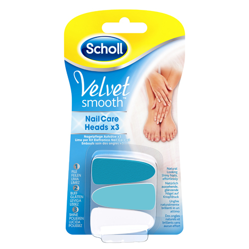 Scholl Náhradné hlavice do elektrického pilníka na nechty Velvet Smooth
