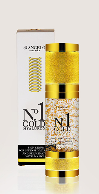 di ANGELO cosmetics Pleťové sérum s kyselinou hyaluronovou No1 Gold Hyaluron Skin Serum For Intense Hydration 30 ml