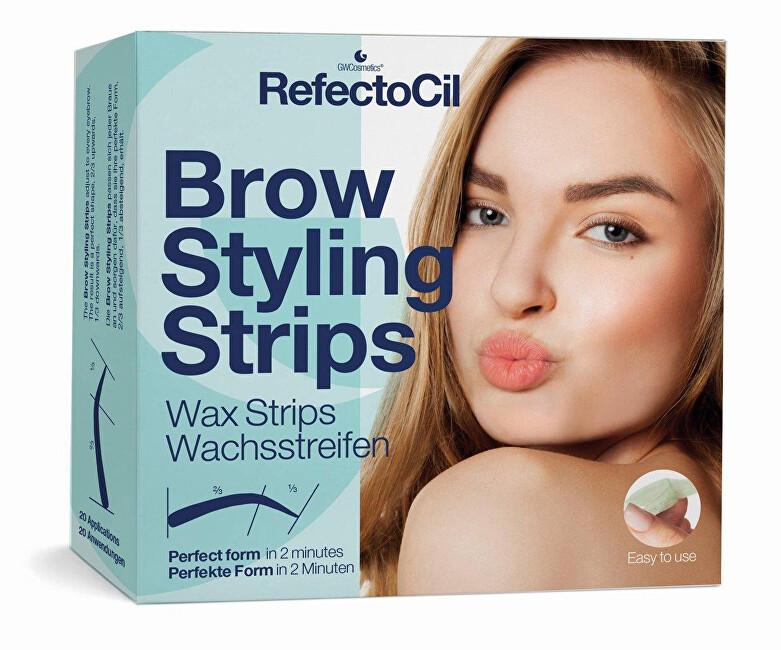 Refectocil Depilační proužky na obočí (Brow Styling Stripes) 20 párů