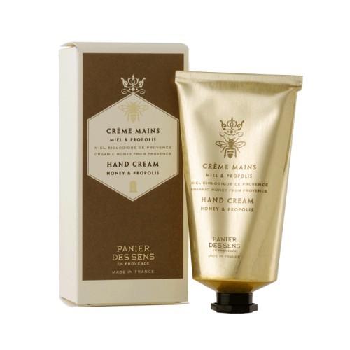Panier des Sens Hustý a výživný krém na ruky s propolisovým extraktom (Hand Cream Honey & Propolis) 75 ml
