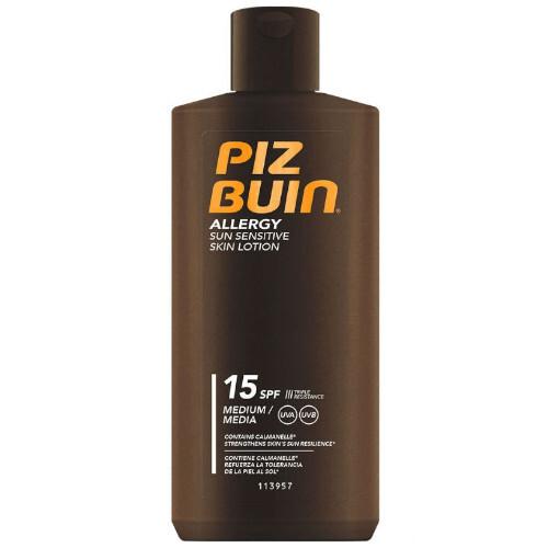Piz Buin Mléko na opalování pro citlivou pokožku Allergy SPF 15 (Sun Sensitive Skin Lotion) 200 ml