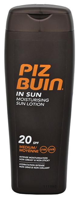 Piz Buin Mléko na opalování SPF 20 (In Sun Moisturising Sun Lotion) 200 ml