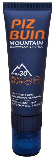 """Piz Buin Sluneční krém SPF 30 a ochranný balzám na rty SPF 30 2 v 1 (Mountain Combi """"2 in 1"""" Sun Cream a Lipstick) 20 ml + 2,3 ml"""
