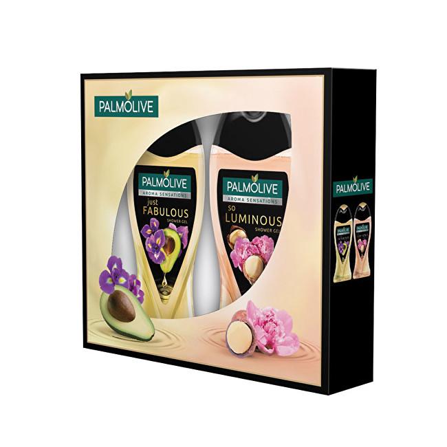 Palmolive Aroma Luminous sprchový gel 250 ml + Fabulus sprchový gel 250 ml dárková sada