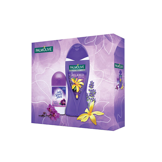 Palmolive Aroma Relaxed sprchový gel 250 ml + Lady Speed Stick Fresh & Essence antiperspirant roll-on pro ženy 50 ml dárková sada