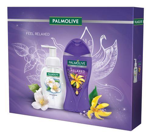Palmolive So Relaxed sprchový gel pro ženy 250 ml + Magic Softness Jasmine pěnové mýdlo na ruce 250 ml dárková sada