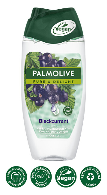 Palmolive Sprchový gel Pure & Delight Blackcurrant (Shower Gel) 250 ml - SLEVA - prasklé víčko
