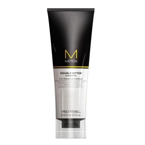 Paul Mitchell Bezsulfátový pečující šampon a kondicionér 2v1 Mitch (Double Hitter Sulfate-Free 2 In 1 Shampoo & Conditioner) 250 ml