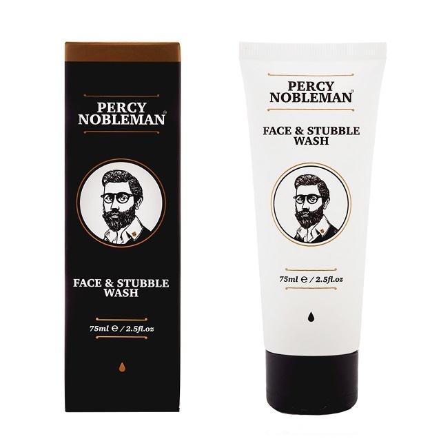 Percy Nobleman Čisticí gel na obličej a vousy (Face & Stubble Wash) 75 ml - SLEVA - chybí celofán