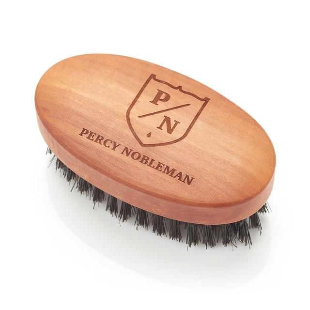 Percy Nobleman Kartáč na vousy z hruškového dřeva a kančích štětin