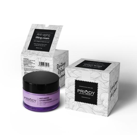Priody Liftingový krém proti vráskám s kolagenem a kyselinou hyaluronovou (Anti-Aging Lifting Cream) 50 ml