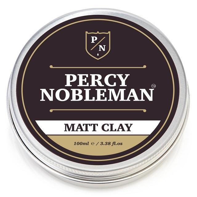 Percy Nobleman Matující vosk na vlasy s jílem (Matt Clay) 100 ml - SLEVA - poškozený obal