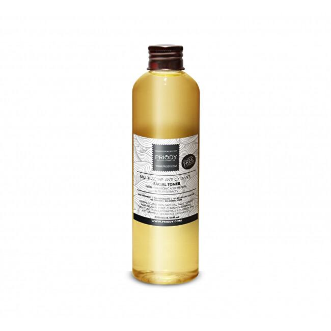 Priody Multiaktivní antioxidační micelární voda s kyselinou hyaluronovou, rostlinnými a ovocnými extrakty (Multi-Active Anti-Oxidant Micellarwater) 250 ml