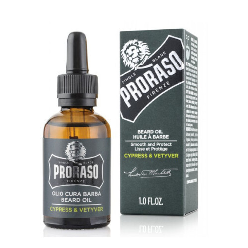 Proraso Olej na plnovous s cypřišem a vetiverem Cypress & Vetyver (Beard Oil) 30 ml