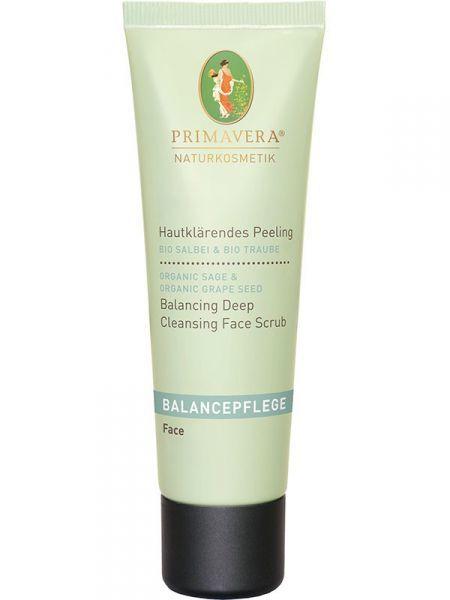 Primavera čistící peeling se šalvějí a hroznovými jadýrky (Balancing Deep Cleansing Face Scrub) 50 ml