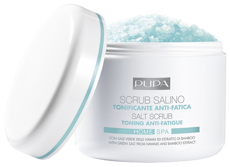 Pupa Tonizujúci peeling s obsahom soli Home Spa (Toning Anti-Fatigue Salt Scrub) 350 g
