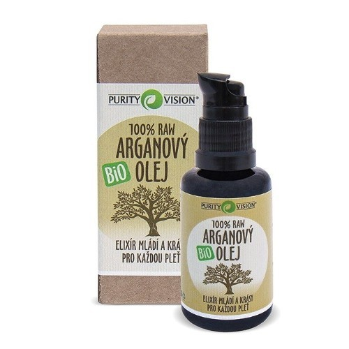 Purity Vision 100% Raw Bio Arganový olej 30 ml