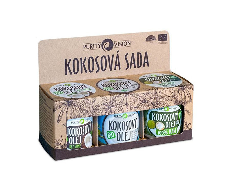 Purity Vision Kokosová sada 3 x 120 ml