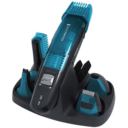 Fotografie Remington Personal Groomers Vacuum 5 in 1 PG6070 zastřihovací sada na vousy i tělo + 5 nástavců