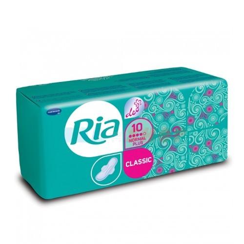 Ria Dámské hygienické vložky se svěží vůní Classic Normal Plus Deo 10 ks