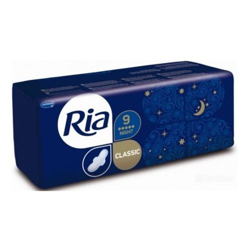 Ria Dlouhé hygienické vložky s křidélky Ria Classic Night 9 ks