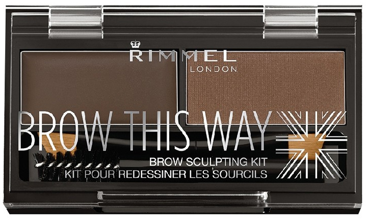 Rimmel Brow This Way set na obočie 3 Dark Brown 1,1 g