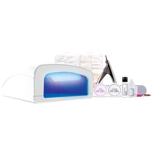 Rio-Beauty Sada na gelové nehty s UV lampou a s příslušenstvím UVLP6 (Professional UV Nails Extensions)