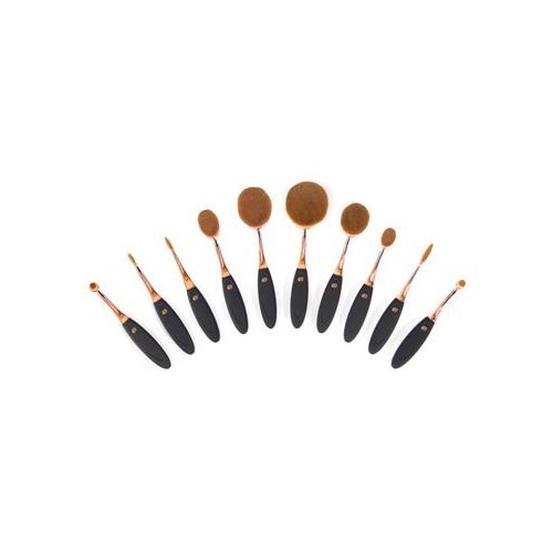 Rio-Beauty Súprava 10 štetčekov na make-up (Microfibre Oval Cosmetic Brush Collection)