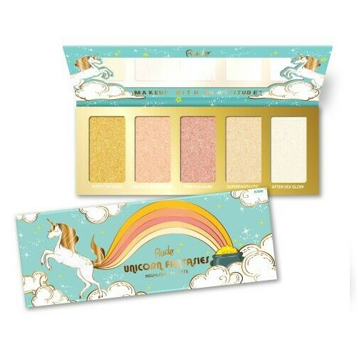 RUDE® Cosmetics Paletka 5 rozjasňovač Unicorn Fantasies (Highlight Palette) 21 g