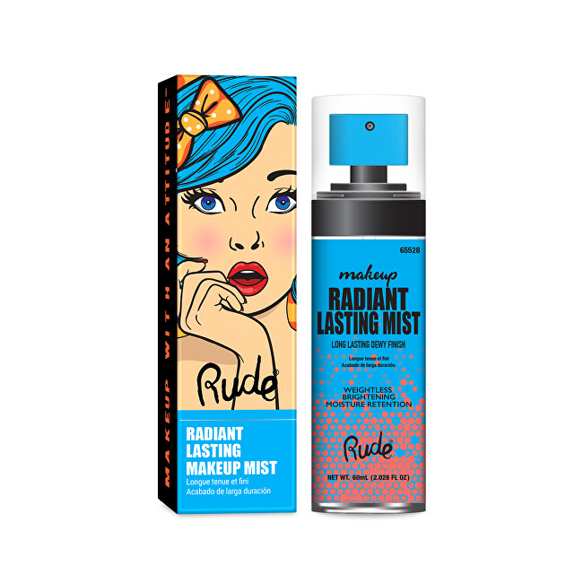 RUDE® Cosmetics Fixačný sprej na make-up Radiant Lasting Makeup Mist 60 ml