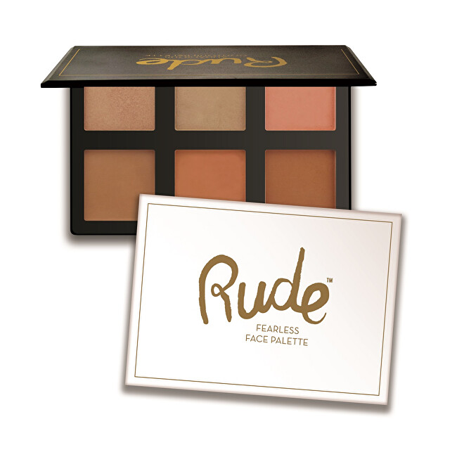 RUDE® Cosmetics Paletka na tvár Fearless (Face Palettte) 18 g