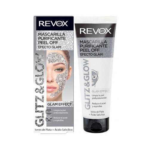 Revox Exfoliačný zlupovacia pleťová maska strieborná Glitz and Glow (Bioregulating Peel Off Silver Mask) 80 ml