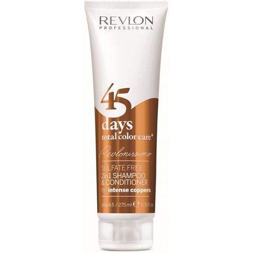 Revlon Professional Šampon a kondicionér pro intenzivní měděné odstíny 45 days total color care (Shampoo&Conditioner Intense Coppers) 275 ml