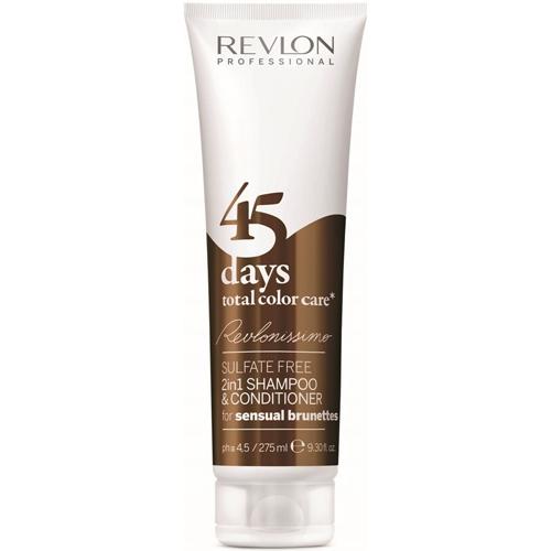 Revlon Professional Šampon a kondicionér pro smyslné hnědé odstíny 45 days total color care (Shampoo&Conditioner Sensual Brunettes) 275 ml