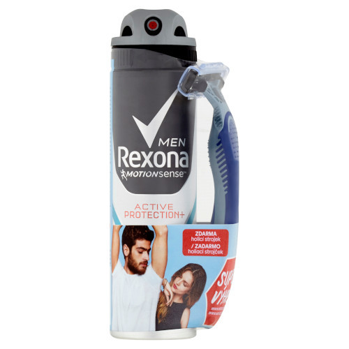 Rexona Antiperspirant ve spreji pro muže Active Protection+ 150 ml + holítko
