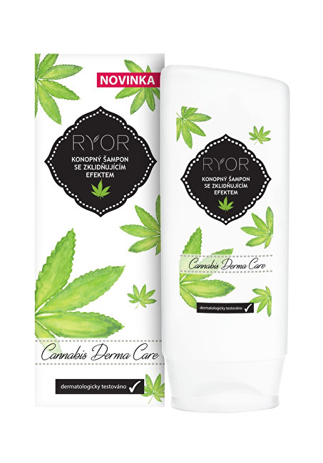 RYOR Konopný šampon se zklidňujícím efektem Cannabis Derma Care 200 ml