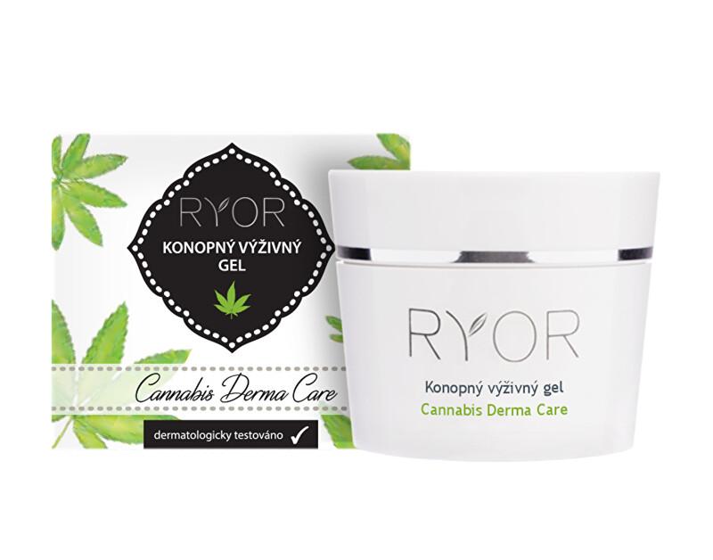 RYOR Konopný výživný gel 1 % Cannabis Derma Care 50 ml