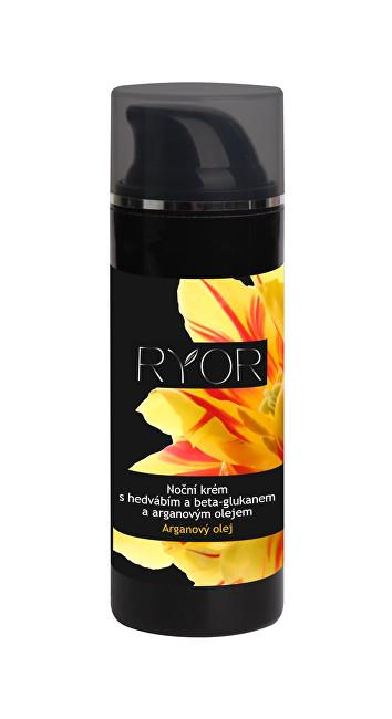 RYOR Noční krém s hedvábím, beta-glukanem a arganovým olejem 50 ml