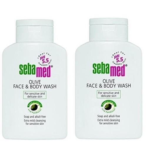 Sebamed Mycí emulze na obličej a tělo s olivovým olejem 2x 200 ml