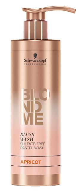 Schwarzkopf Professional Bezsulfátový tónovací šampon pro blond vlasy BLONDME Apricot (Blush Wash) 250 ml