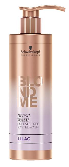 Schwarzkopf Professional Bezsulfátový tónovací šampon pro blond vlasy BLONDME Lilac (Blush Wash) 250 ml