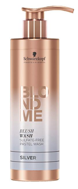 Schwarzkopf Professional Bezsulfátový tónovací šampon pro blond vlasy BLONDME Silver (Blush Wash) 250 ml