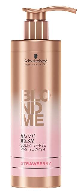 Schwarzkopf Professional Bezsulfátový tónovací šampon pro blond vlasy BLONDME Strawberry (Blush Wash) 250 ml