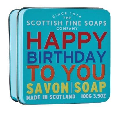 Scottish Fine Soaps Mýdlo v plechu Vše nejlepší 100 g