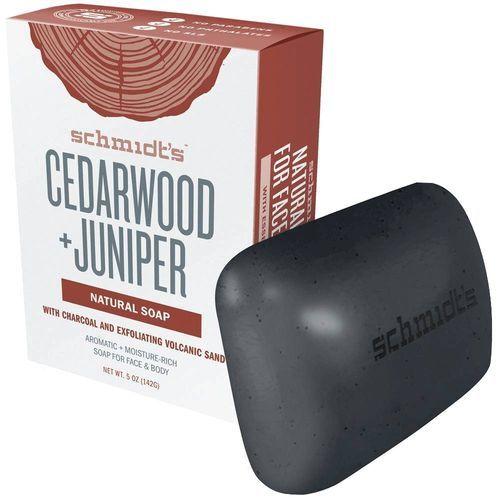 Schmidt´s Tuhé mýdlo Cedar Wood + Juniper (Natural Soap) 142 g