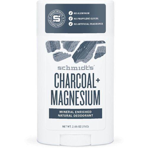 Schmidt´s Tuhý deodorant dřevěné uhlí + hořčík (Signature Active Charcoal + Magnesium Deo Stick) 58 ml
