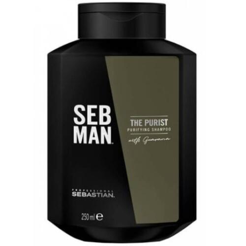Sebastian Professional Čisticí šampon proti lupům pro muže SEB MAN The Purist (Purifying Shampoo) 250 ml