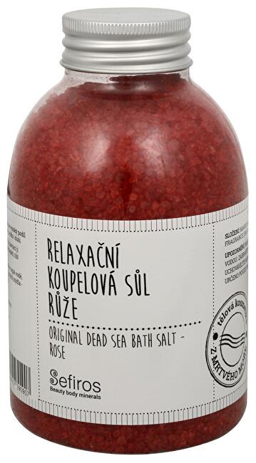 Sefiros Relaxační koupelová sůl Růže (Original Dead Sea Bath Salt) 500 g
